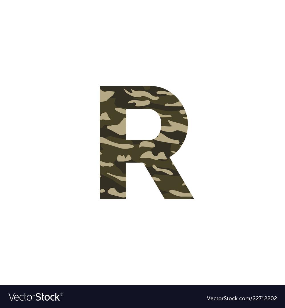 Camouflage logo letter r