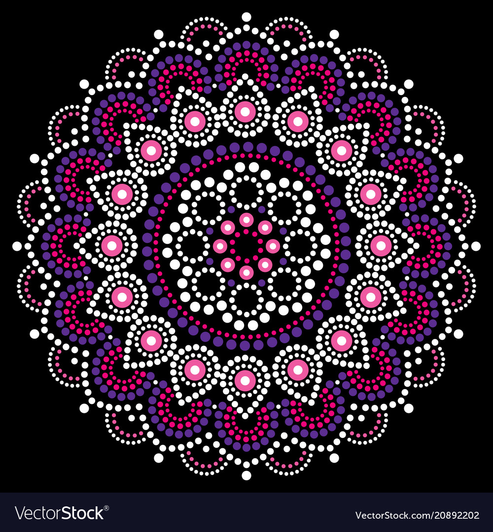 Mandala dot painting design aboriginal