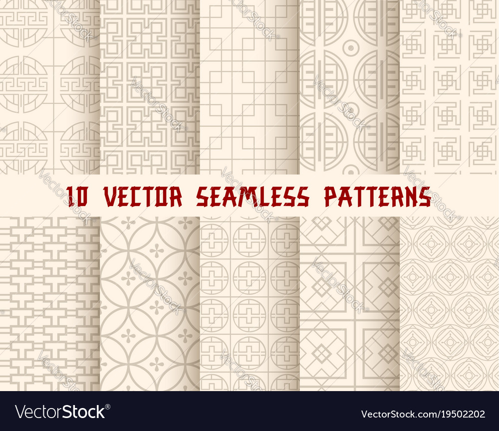 Oriental or asian seamless pattern background