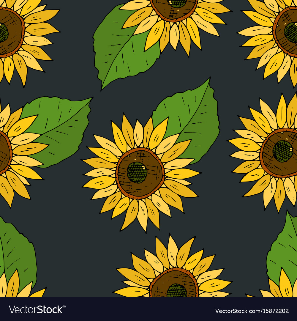 Seamless background with flowers of
