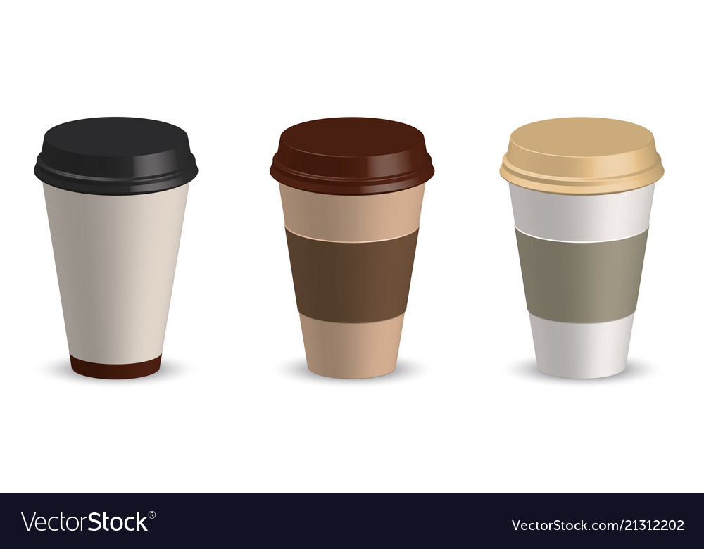 Set of paper cup coffee cup