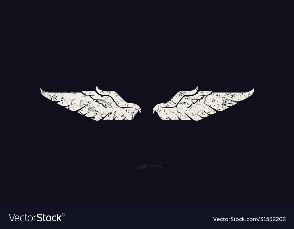 Stock wings silhouette