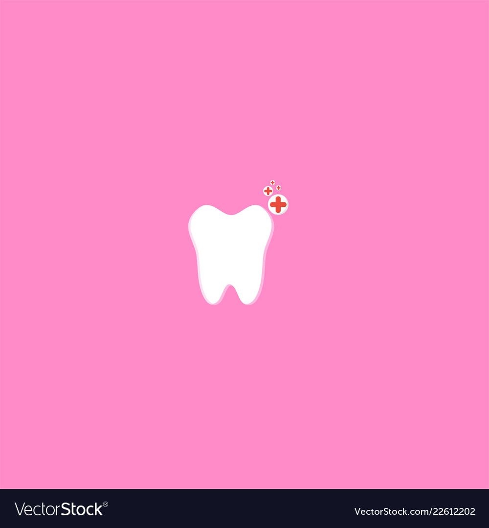 Tooth and healthy symbol design
