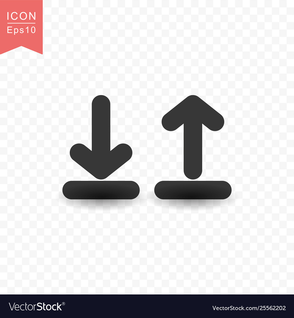 Upload and download icon simple flat style