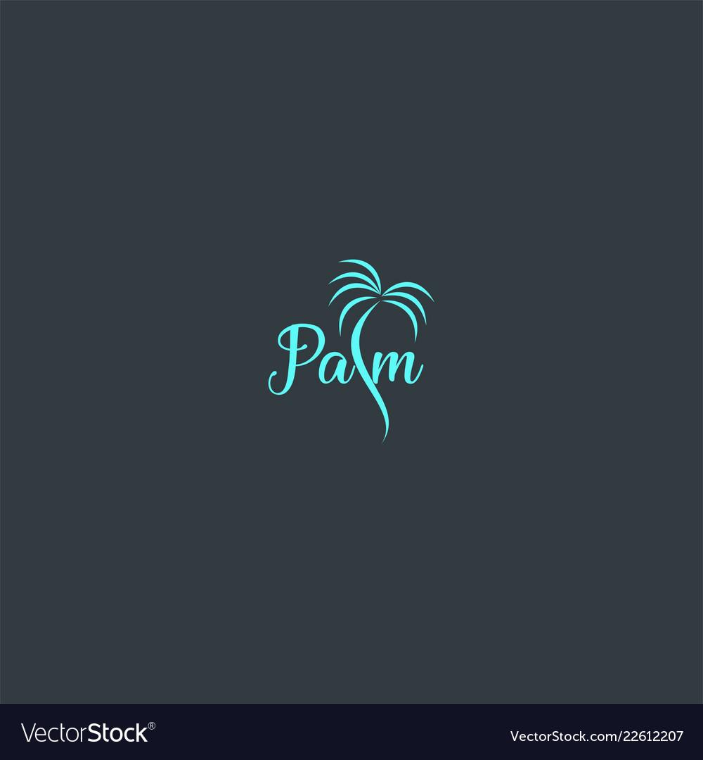 Beautiful palm symbol design