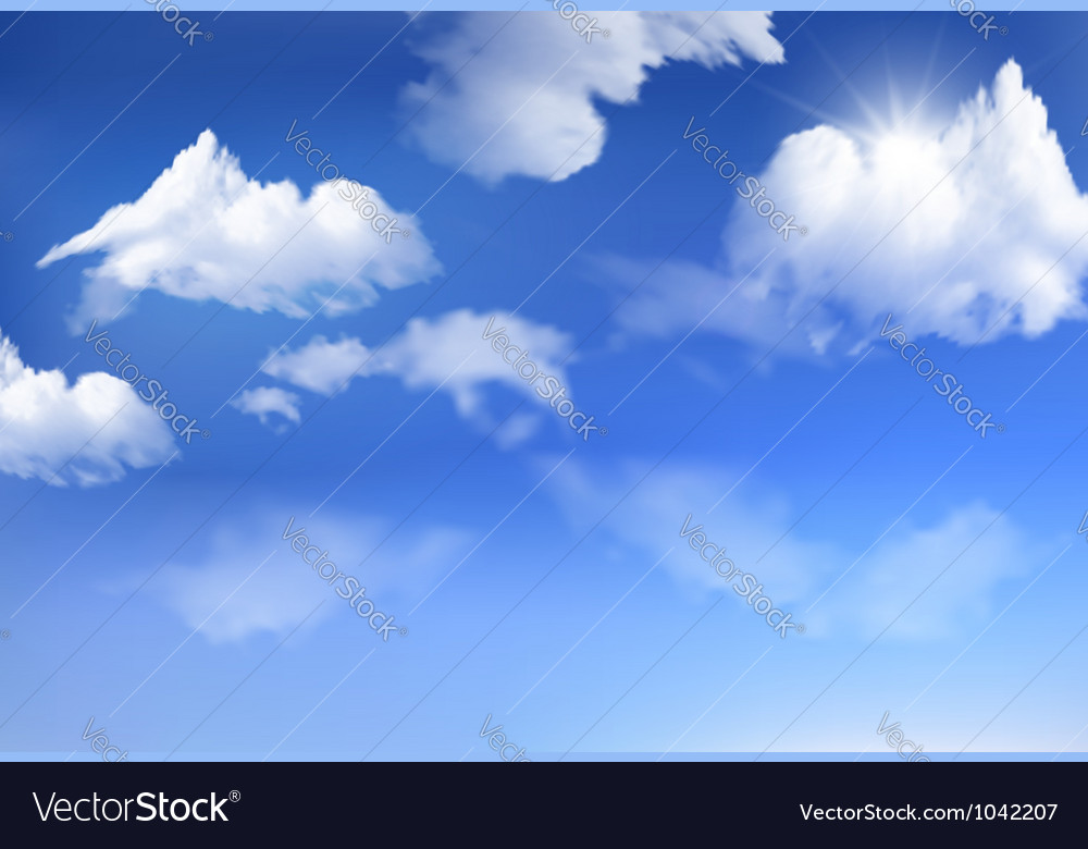 blue sky with clouds background royalty free vector image