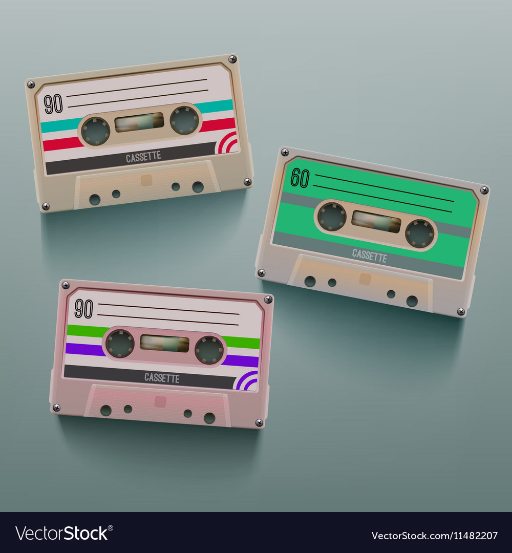 Cassette Icon Set vector image