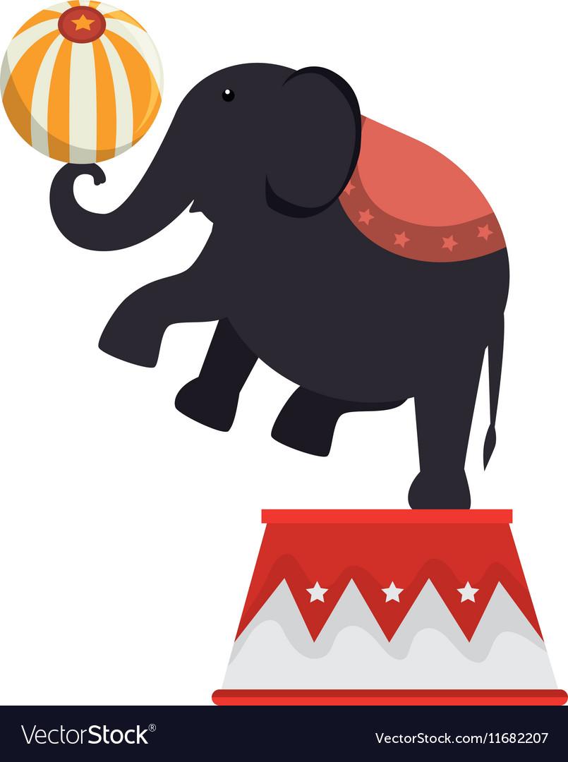 Elephant circus entertainment icon