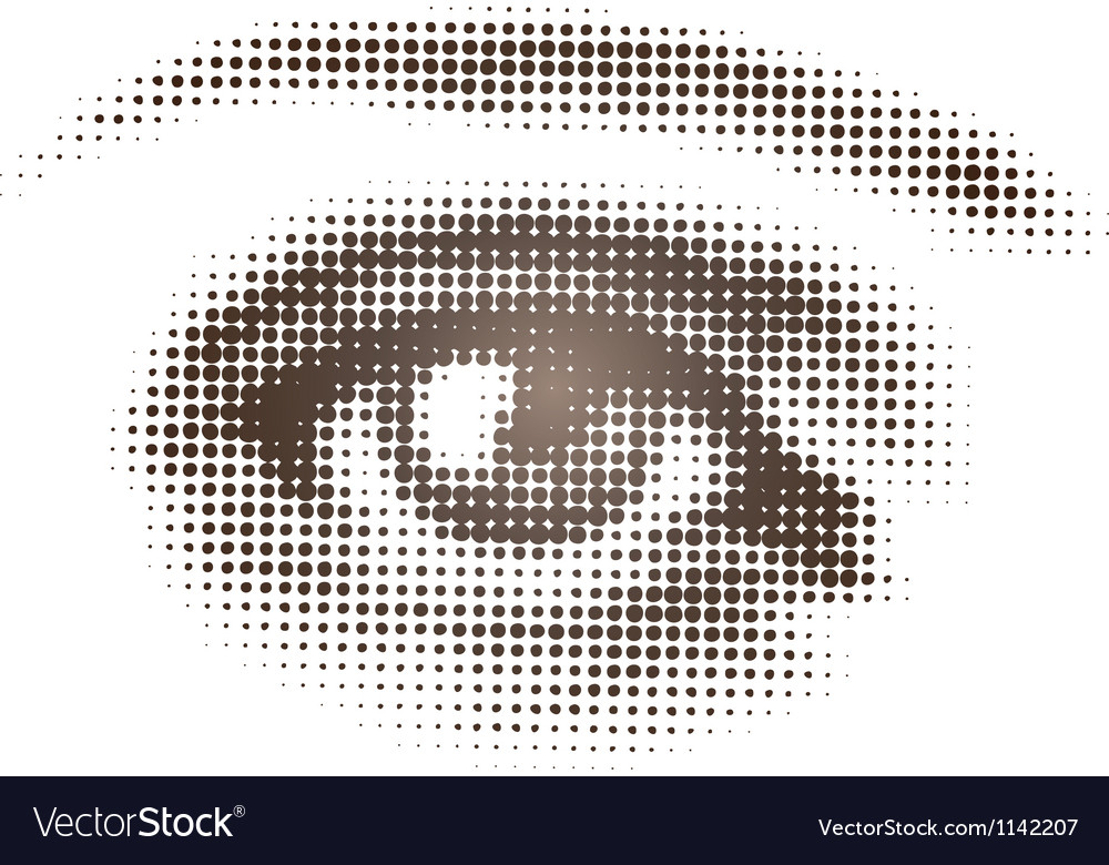 Halftone Brown Eye vector image