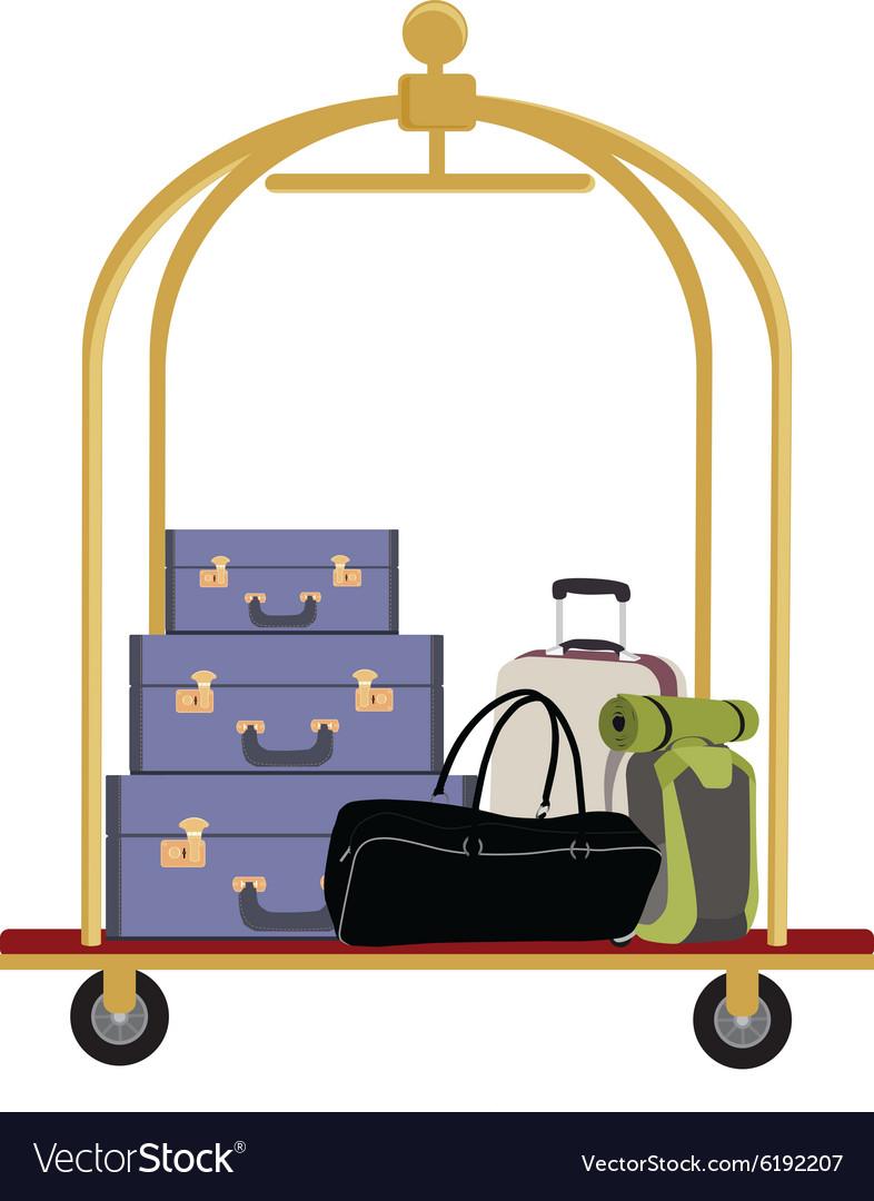 Hotel luggage cart