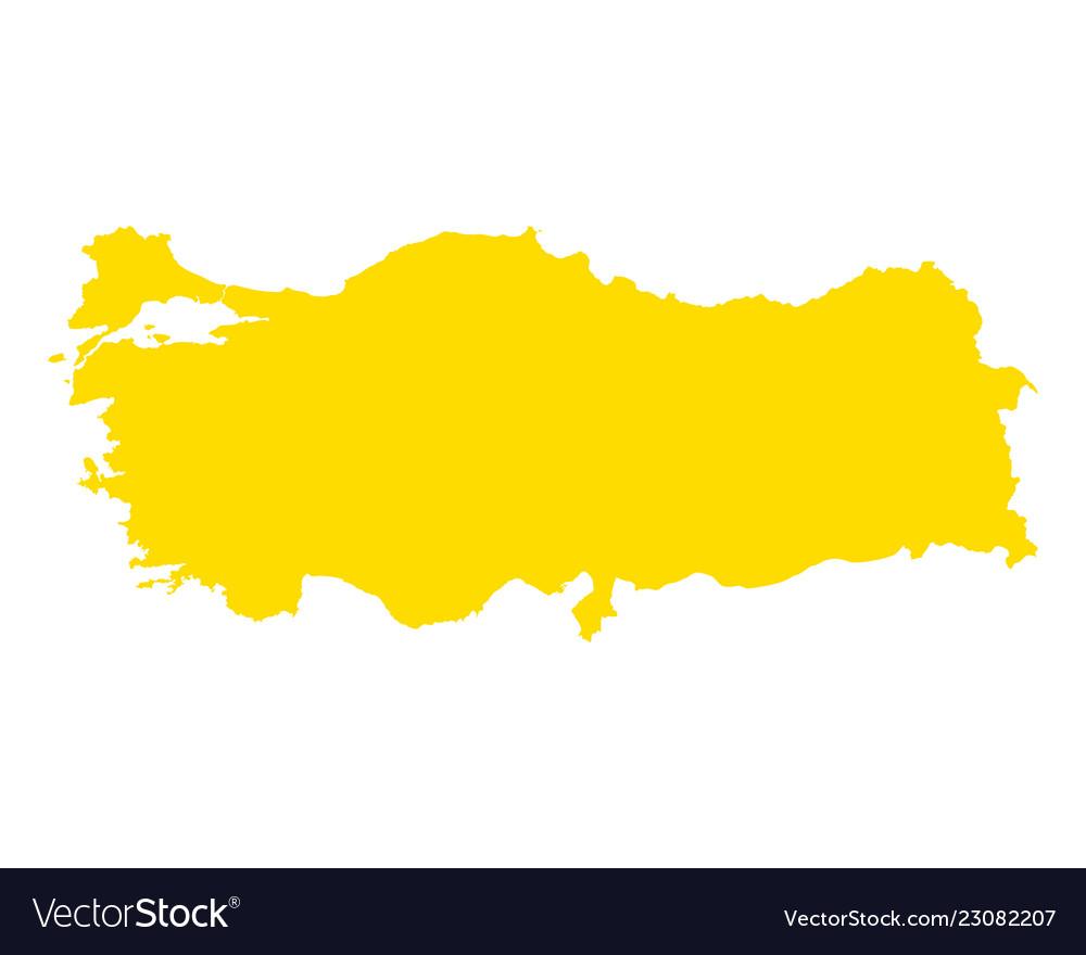 Map of turkey Royalty Free Vector Image - VectorStock
