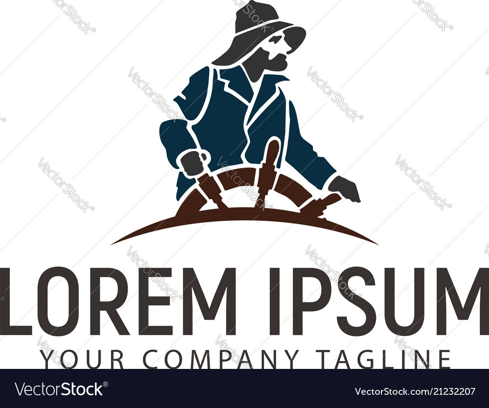 Marines logo design concept template