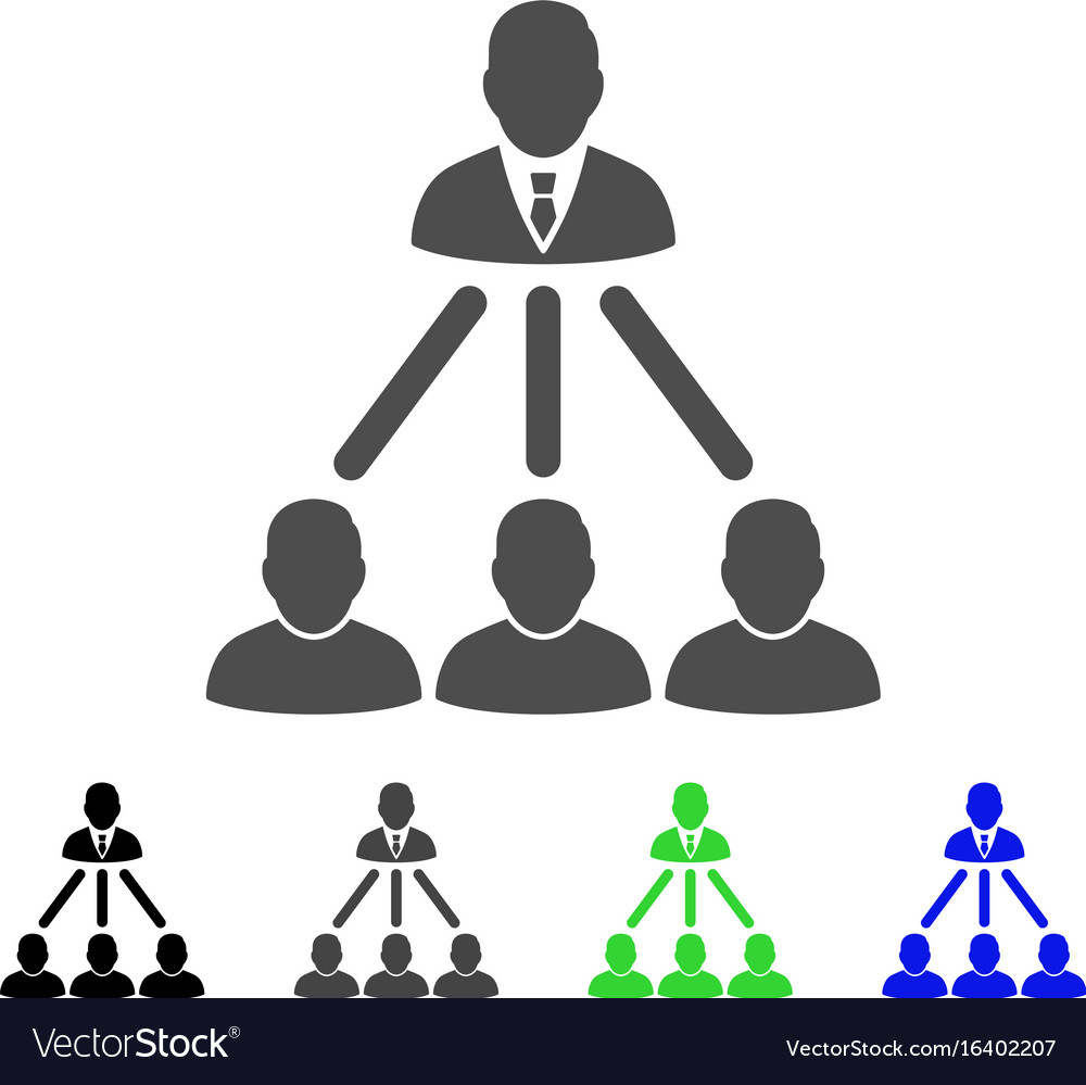 People organization structure flat icon