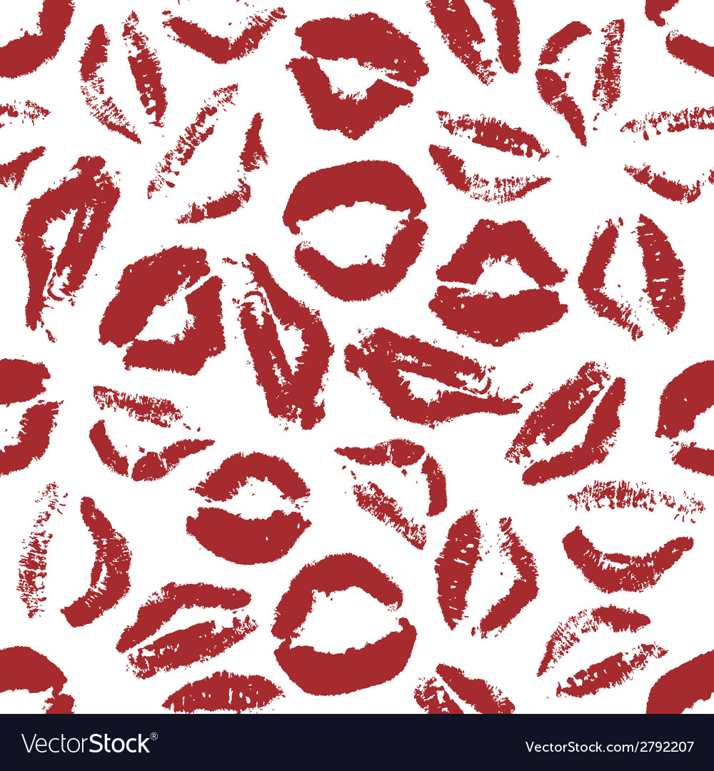 Red lips seamless pattern