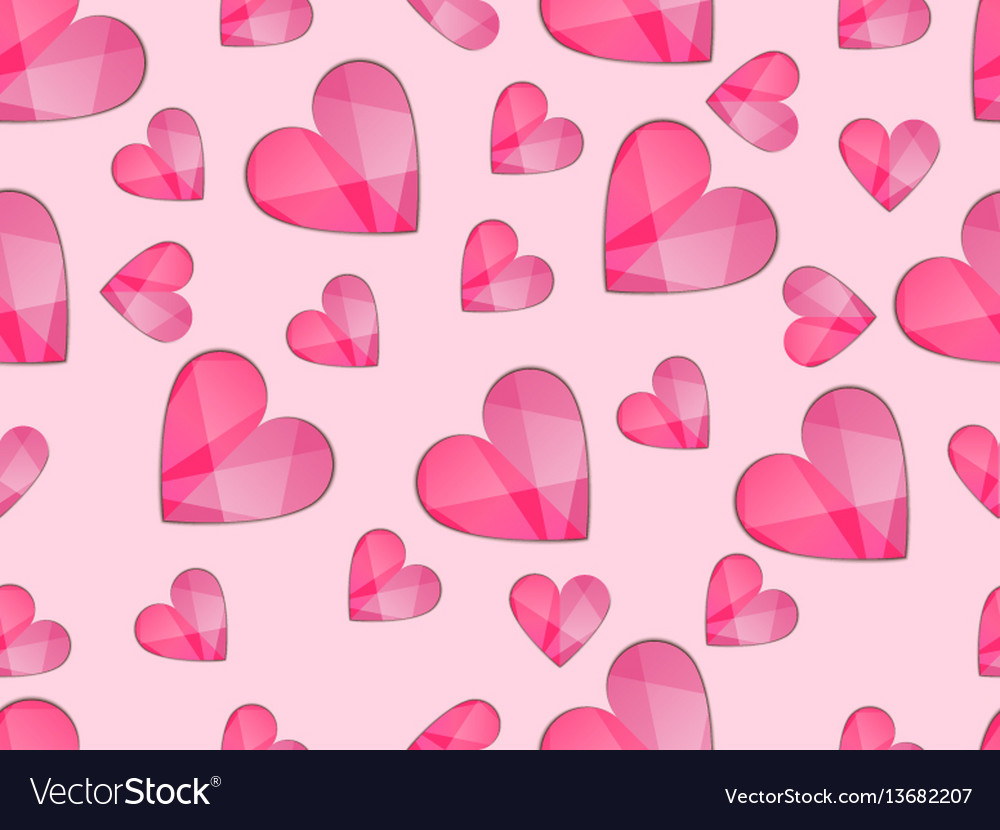 Seamless pattern with hearts symbol of love