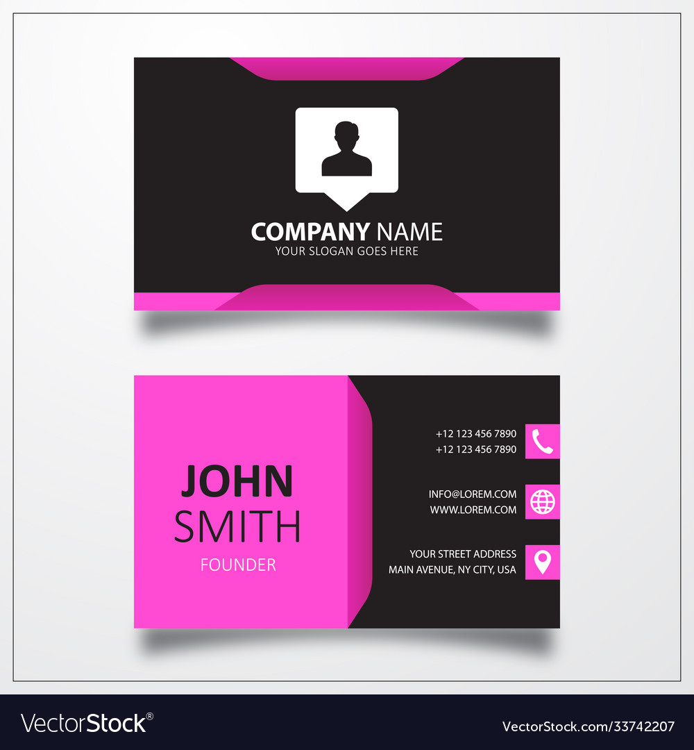 User location icon business card template