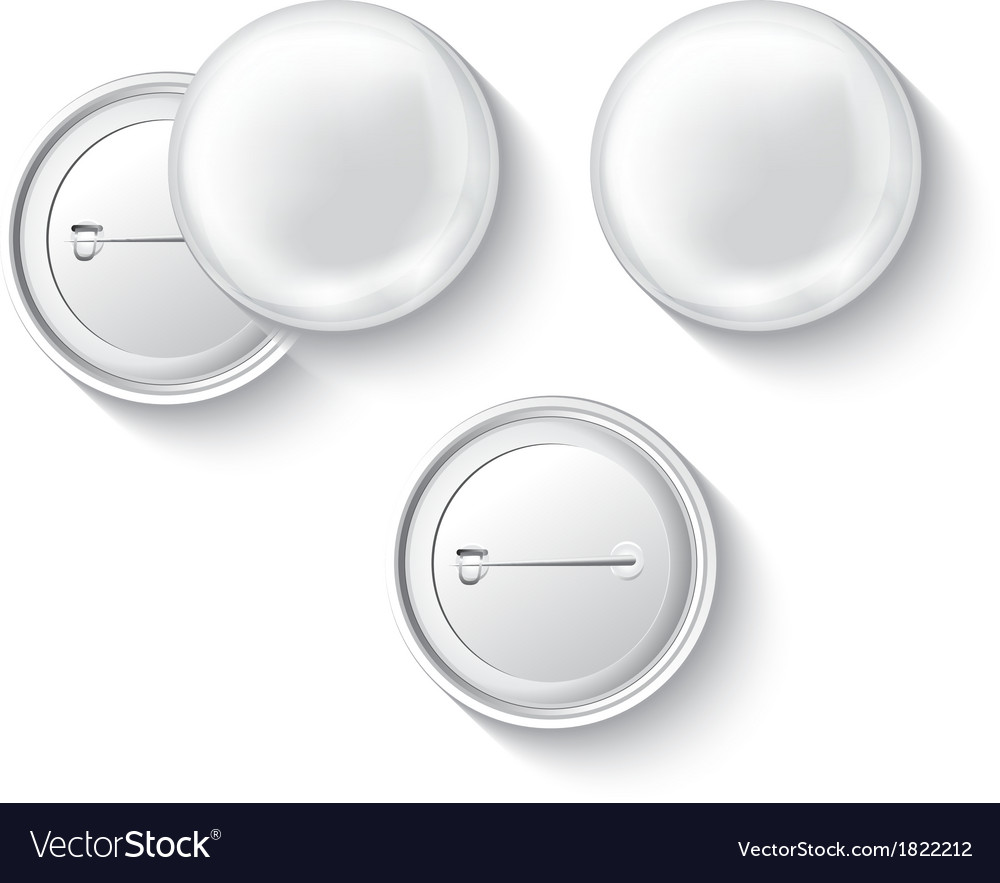 Blank button badge