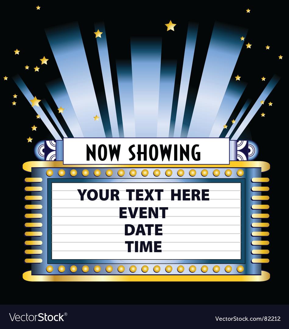 Broadway lights vector image