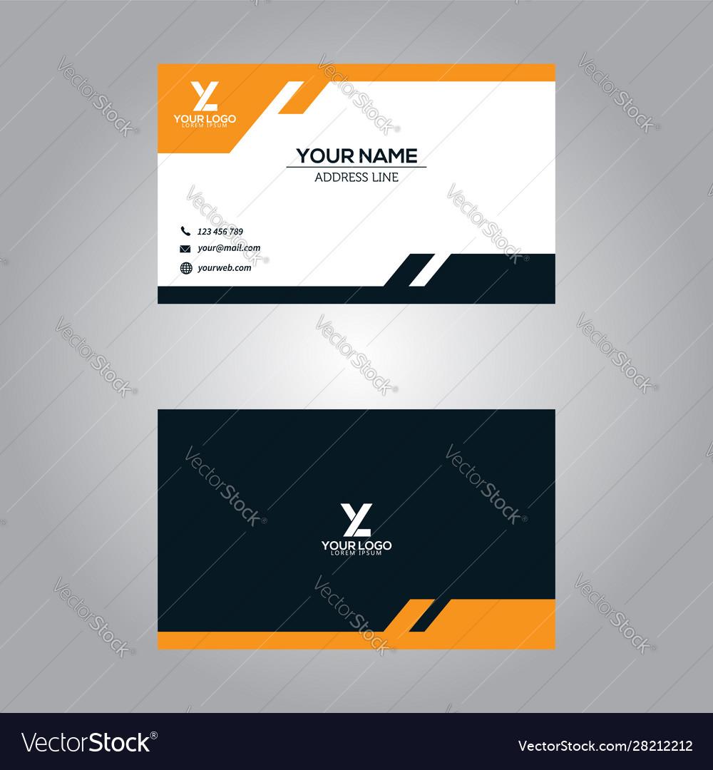 Business card template modern abstract design