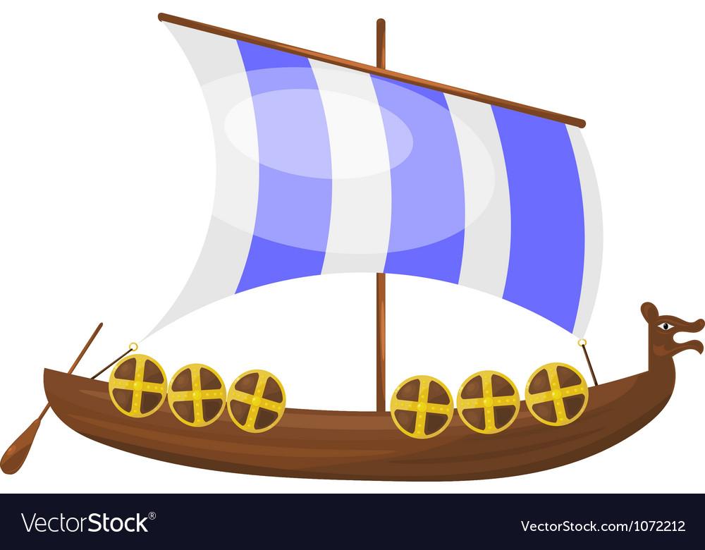 Cartoon Viking ship eps10