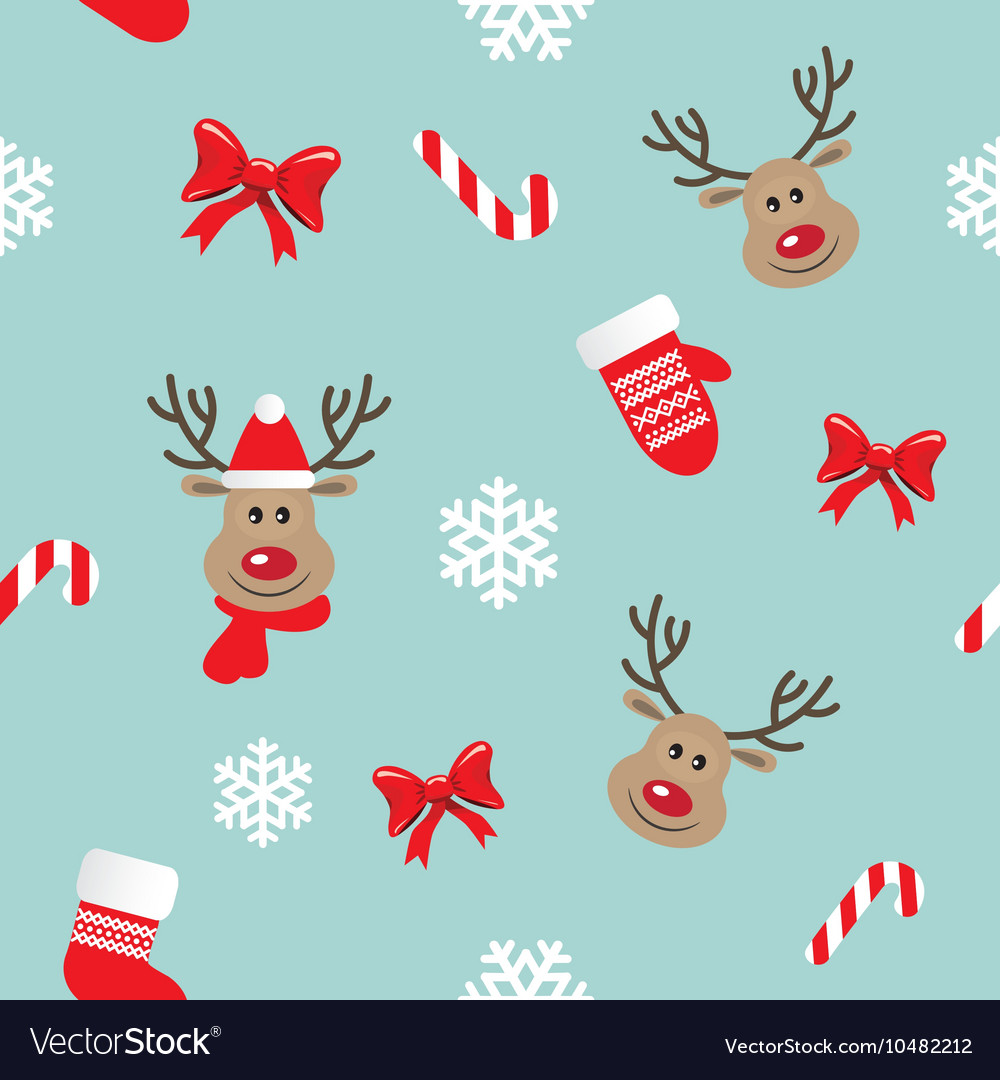 Christmas and New Year seamless pattern
