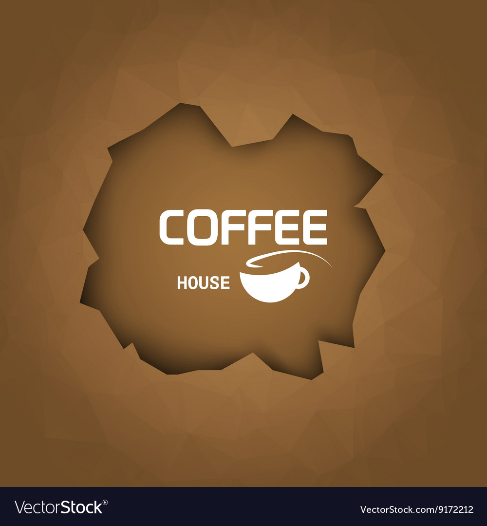 Coffee house background coffee cup trendy style