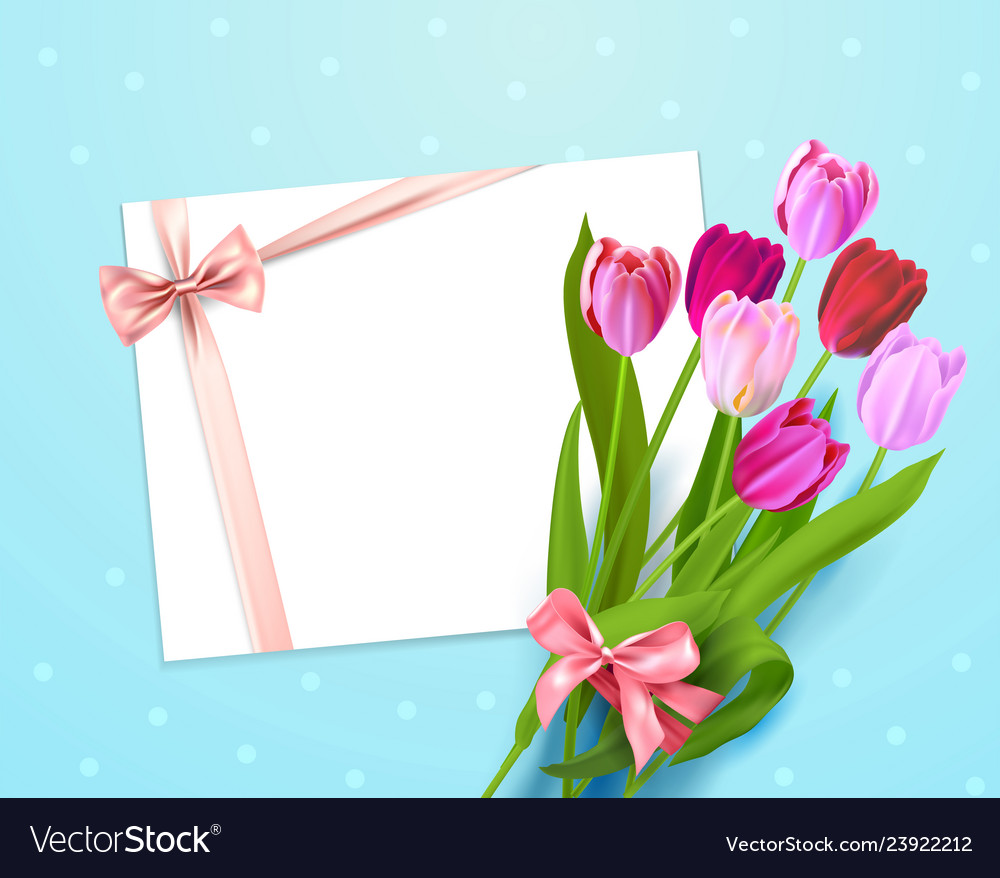 Colorful tulips card