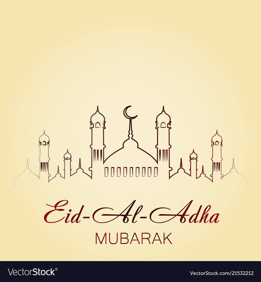 Eid al adha mubarak greeting card royalty free vector image eid al adha mubarak greeting card vector image m4hsunfo