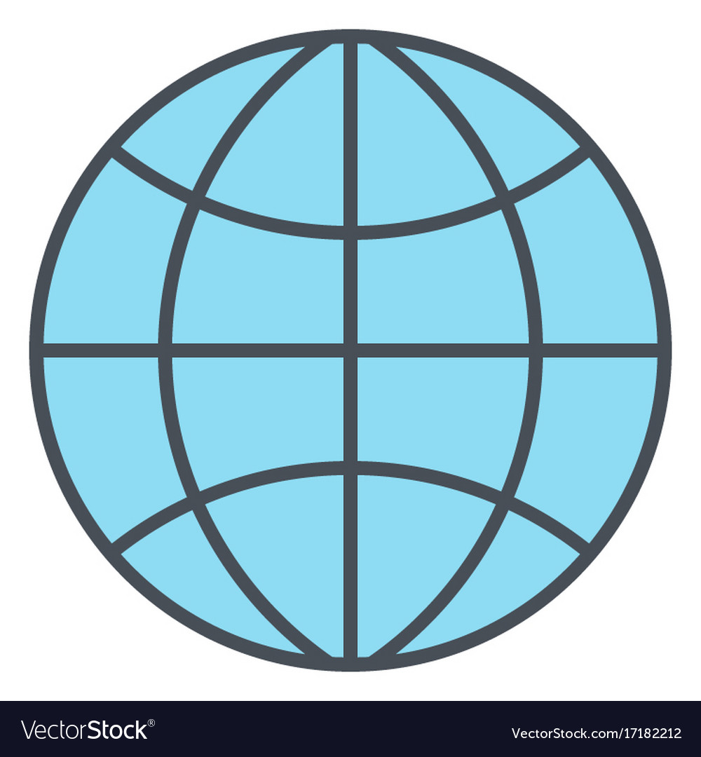 Globe icon flat design earth symbol vector image