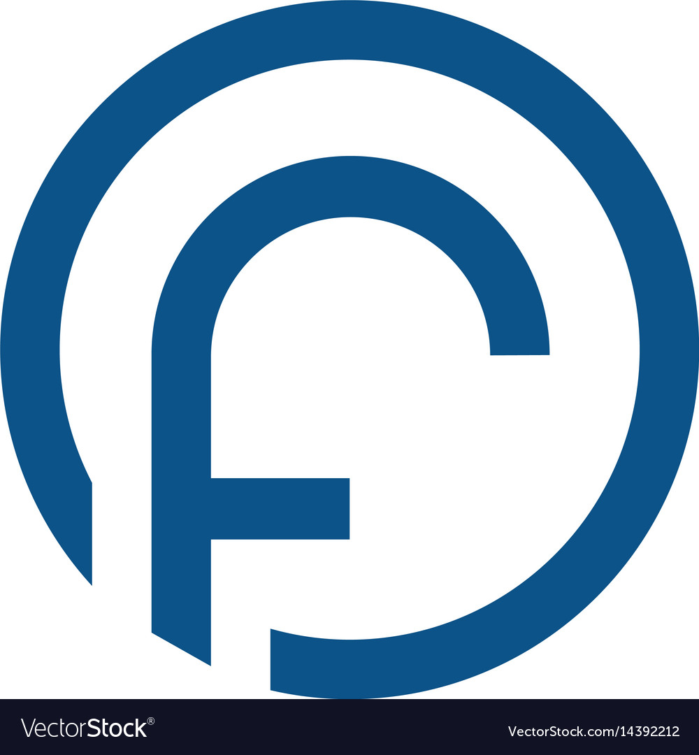 Letter f with circle logo