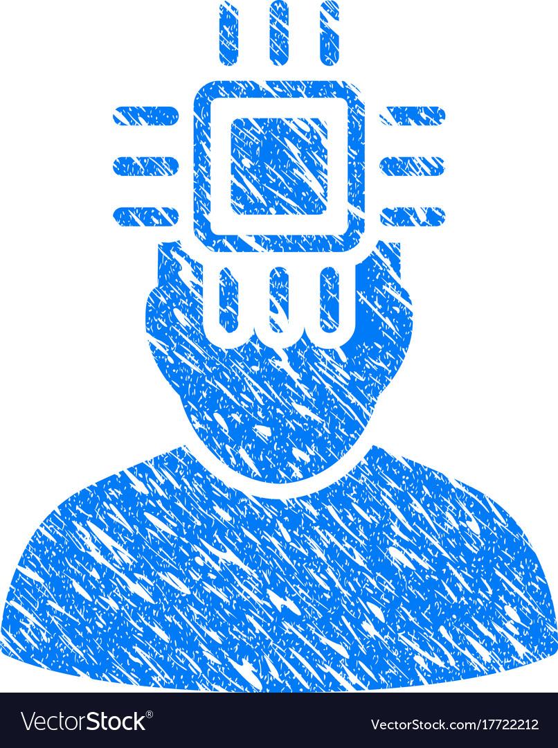 Neuro interface grunge icon