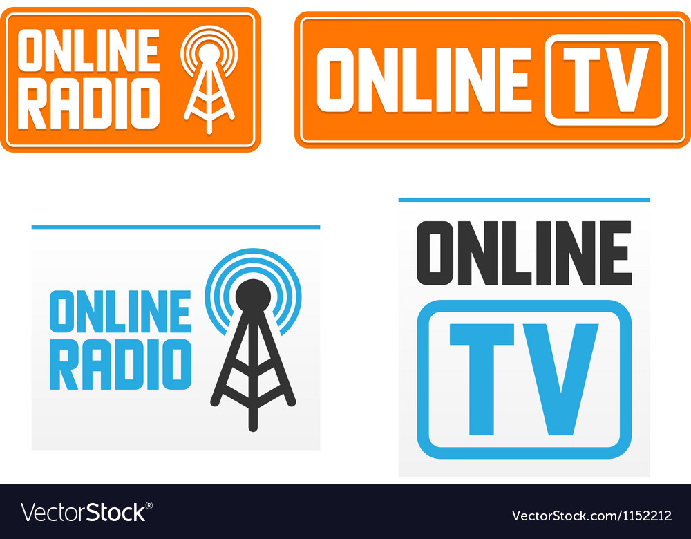 Online radio and tv signs