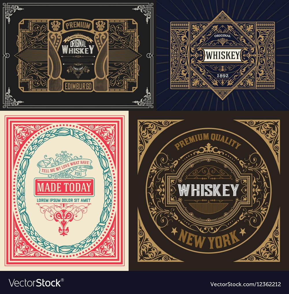 Set Whiskey labes