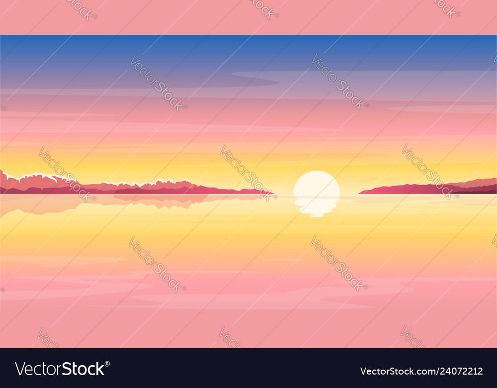 Sunrise at sea nature background