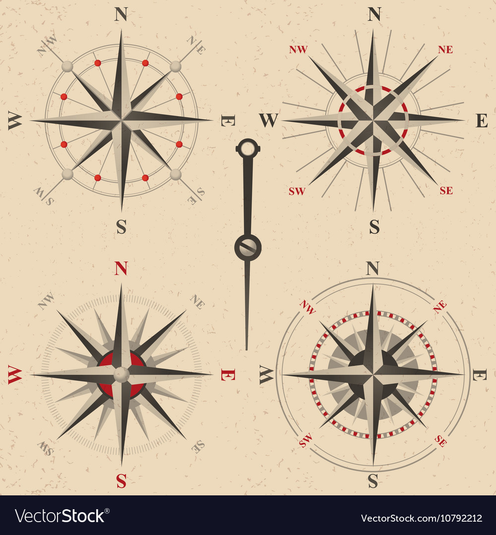 Vintage compasses set