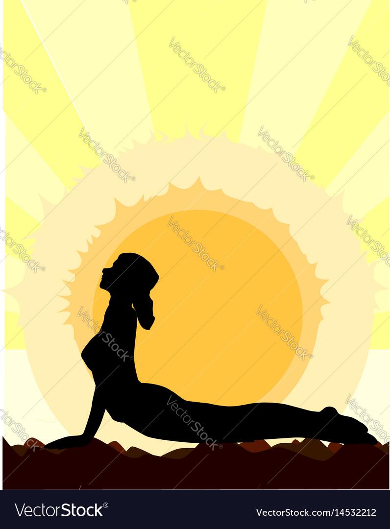 Yoga cobra pose vector image