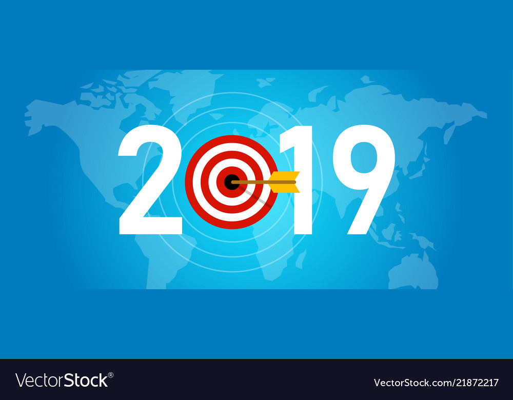 2019 new year target syombol of dart aiming for