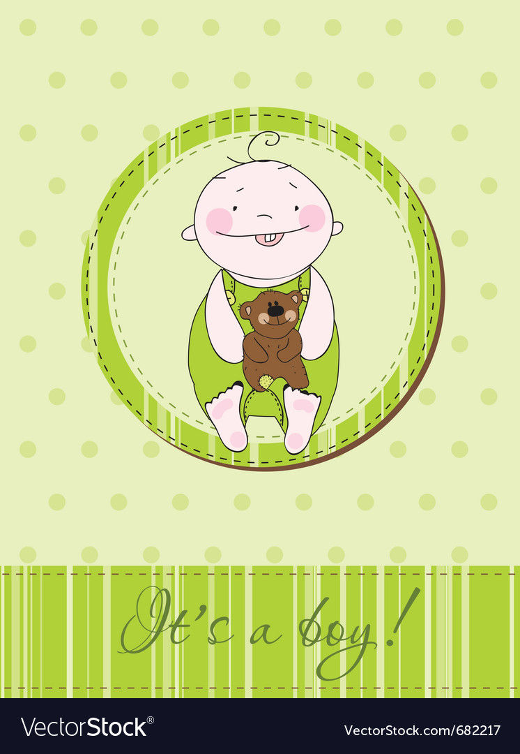 Baby arrival postcard