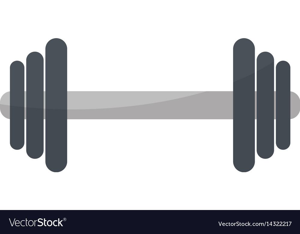 Barbell fitness sport icon