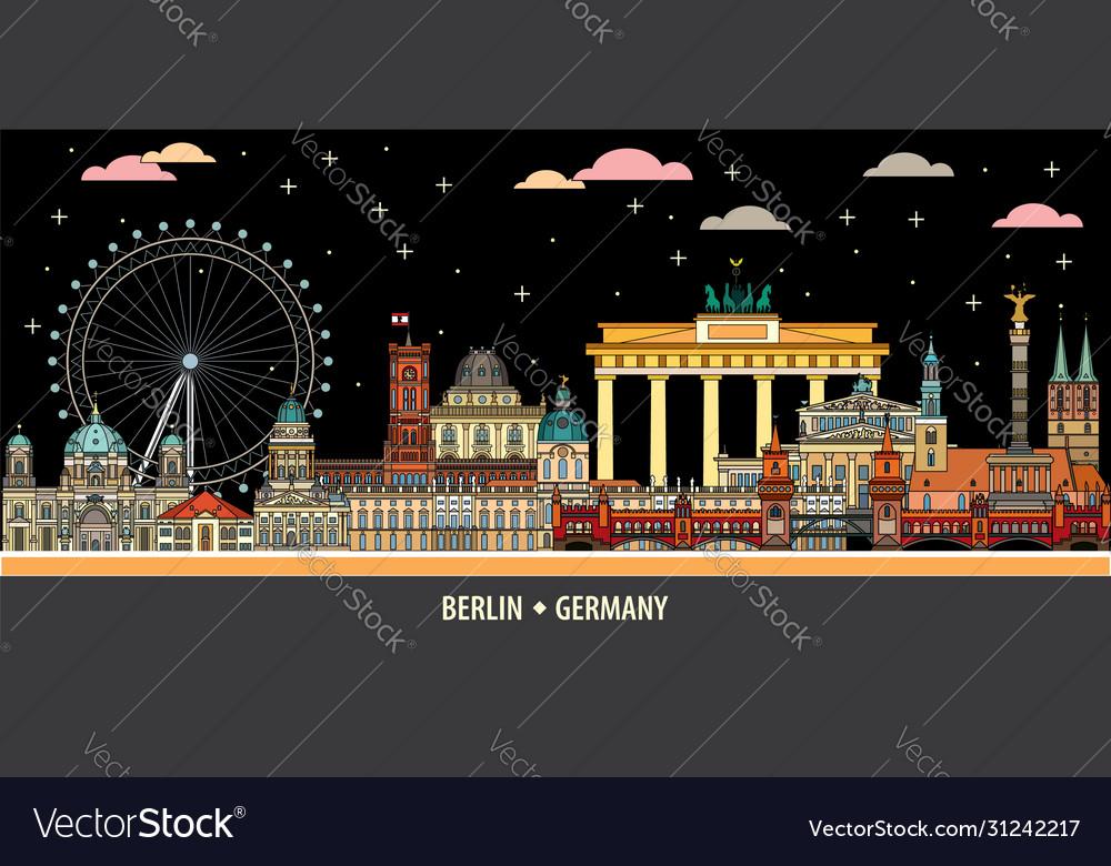 Berlin colorful line art 5