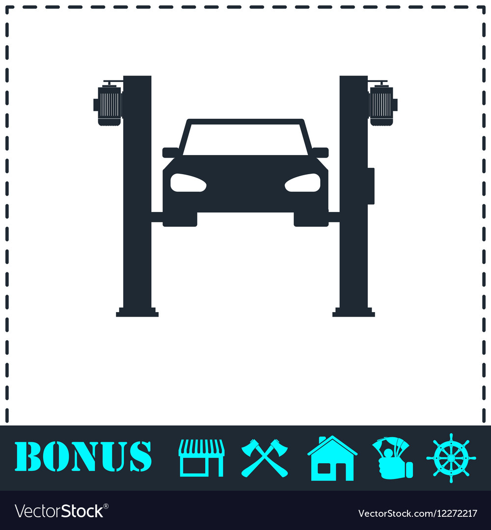 Car lifting icon flat vector image