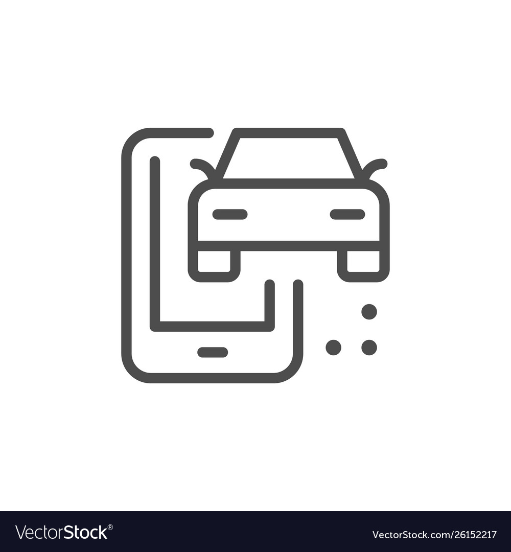 Car mobile service line outline icon