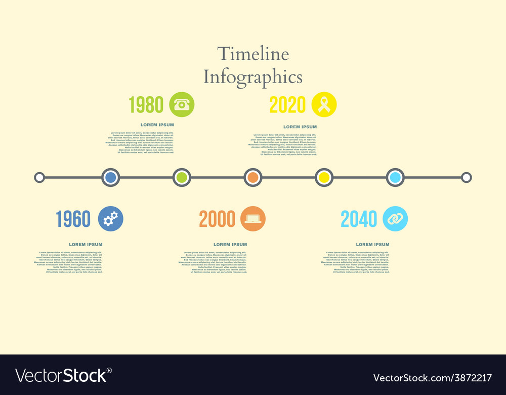 Colorful Timeline Infographics