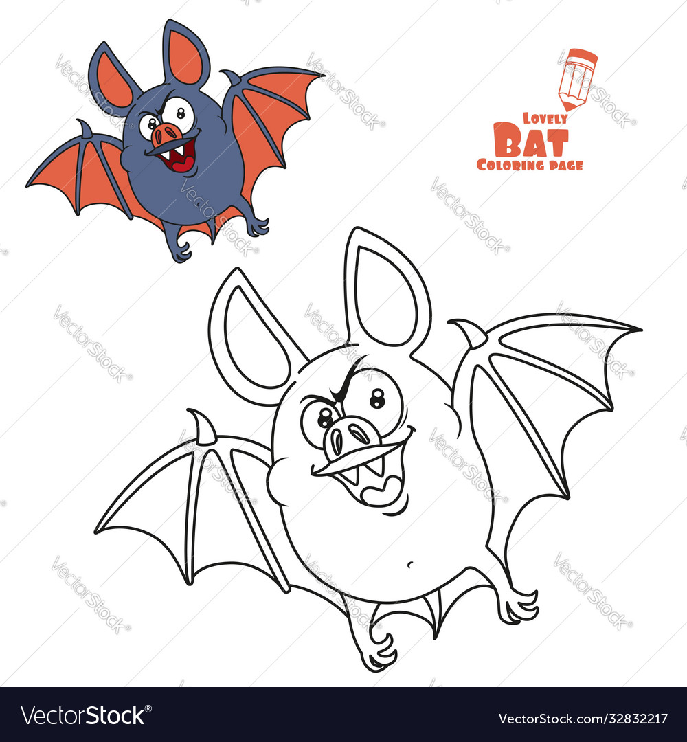 Cute fat halloween flying color and outlined