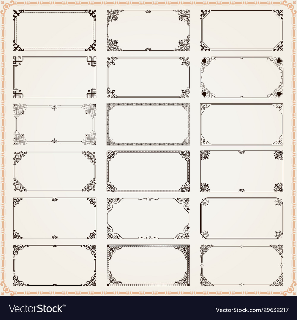 Decorative frames and borders rectangle 2x1
