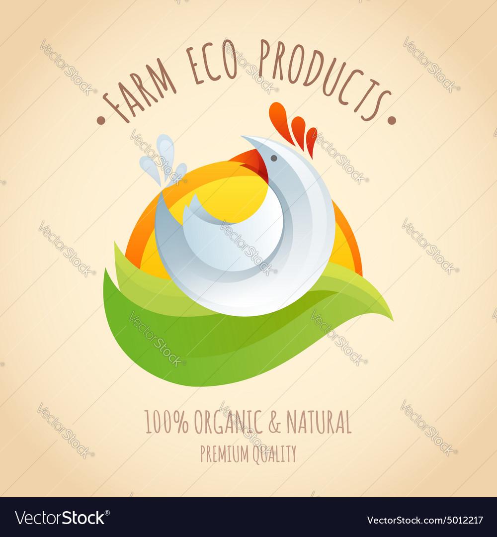Farm chicken symbol icon