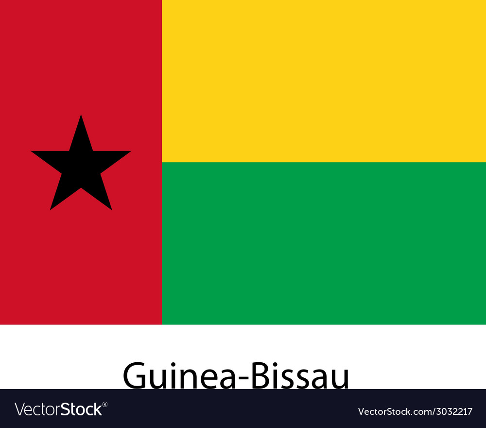 Flag of the country guinea bissau