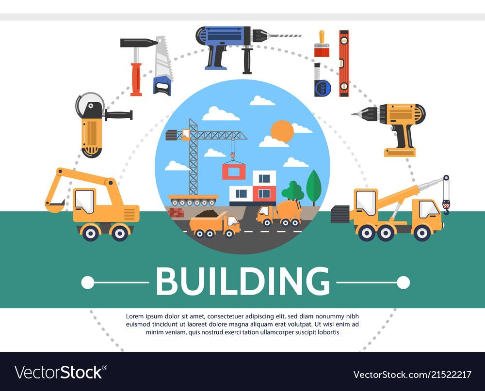 Flat building industry concept