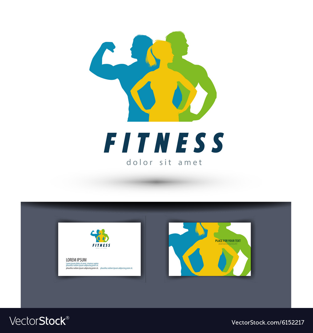 Gym logo design template fitness or sports