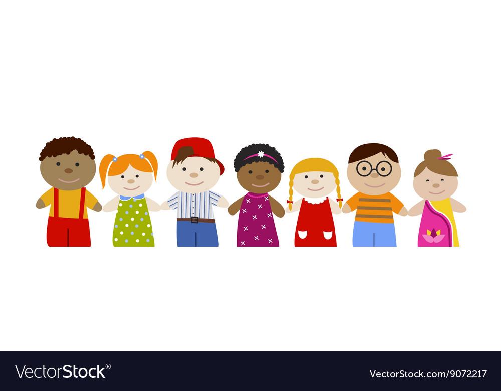 Muli-racial children set